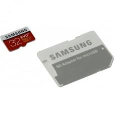 карта памяти SAMSUNG EVO microSDHC 32Gb Class10 UHS-I (U1) + SD Adapter (MB-MP32DA/RU)