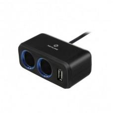 разветвитель на 2 прикуривателя 1 USB Neoline SL-211